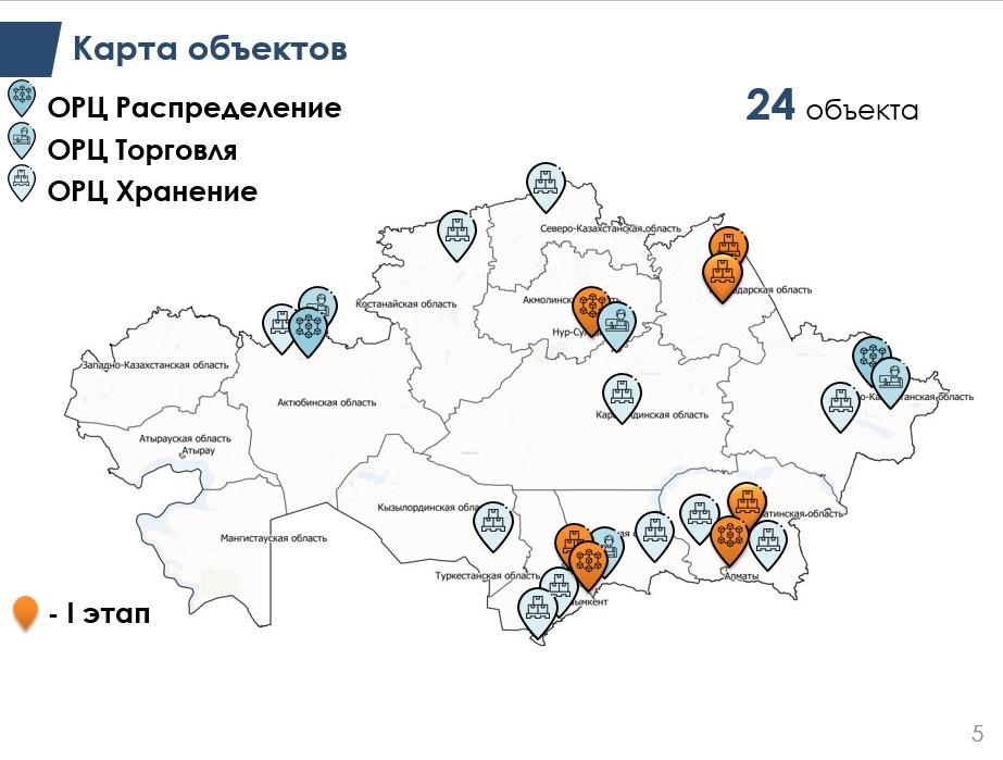 карта объектов ОРЦ